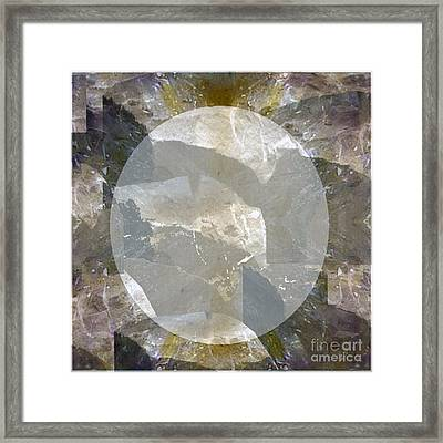 Moon Art On Stone Digital Graphics By Navin Joshi By Print Posters Greeting Cards Pillows Duvet Cove Framed Print by Navin Joshi