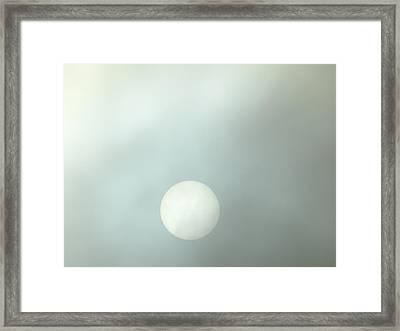 Moon At Sunrise  Framed Print by Jan Gelders