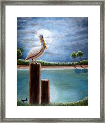 Moon Bathing Framed Print