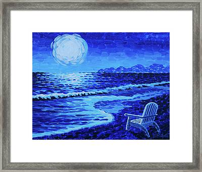 Moon Beach Framed Print by Tommy Midyette