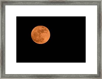 Framed Print featuring the photograph Moon Before Yule  by Bradford Martin