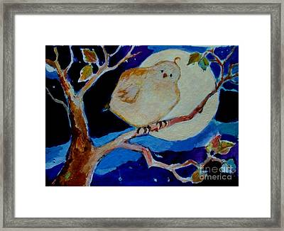 Framed Print featuring the painting Moon Bird by Diane Ursin