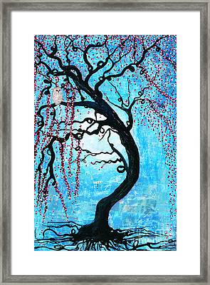 Moon Blossoms Framed Print by Natalie Briney