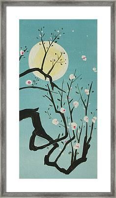 Moon Blossoms Framed Print