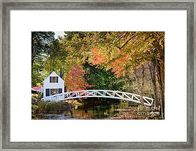 Moon Bridge In Autumn Framed Print by Susan Cole Kelly