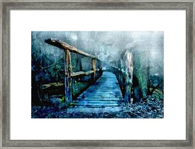 Moon Bridge L B Framed Print by Gert J Rheeders