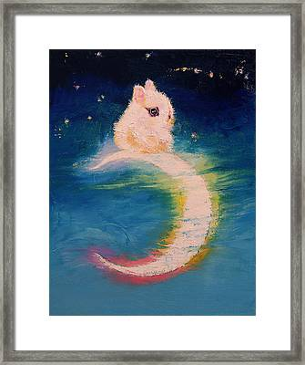 Moon Bunny Framed Print by Michael Creese