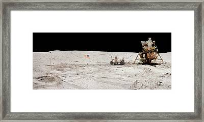 Moon Condo Framed Print by Jon Neidert