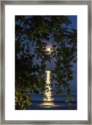 Moon Curtain Framed Print