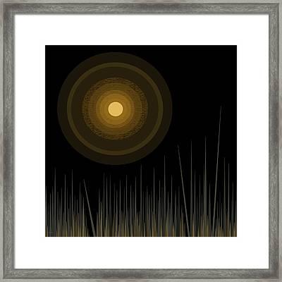 Moon Dance - Moon Framed Print by Val Arie