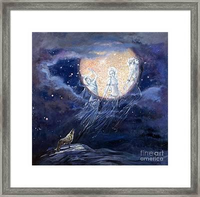 Moon Dance Framed Print by Silvia  Duran