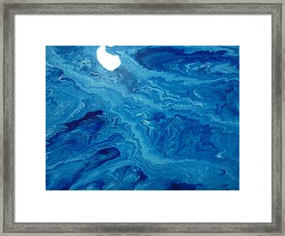 Moon Dancing With The Mountain Framed Print by Gregory Young