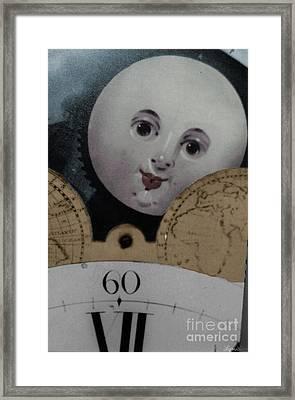 Moon Face Framed Print by Lyric Lucas