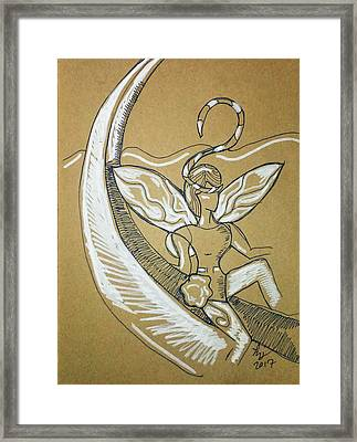 Moon Fairy Framed Print