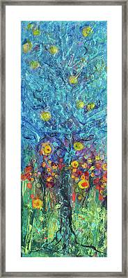 Moon Flowers Framed Print