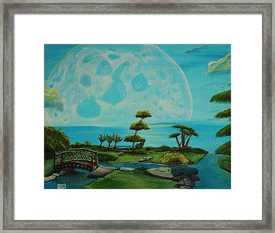 Moon Garden Framed Print