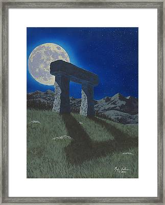 Moon Gate Framed Print