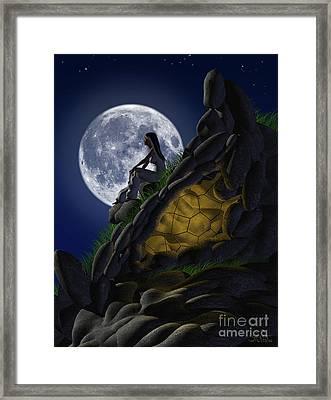 Moon Gazer Framed Print