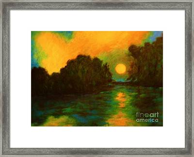 Moon Glow Framed Print