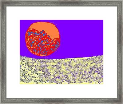 Moon Glow Framed Print by Beebe  Barksdale-Bruner