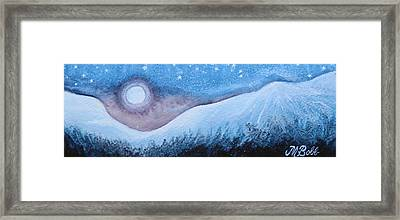 Framed Print featuring the painting Moon Glow by Margaret Bobb