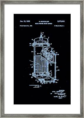 Moon Glow Space Capsule Patent 1  Framed Print by Arturo Granata