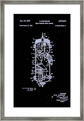 Moon Glow Space Capsule Patent 2  Framed Print by Arturo Granata