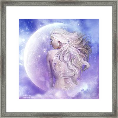 Moon Goddess Framed Print by Carol Cavalaris