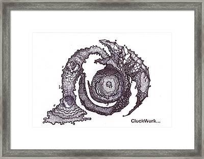 Moon Guardian Framed Print by ClockWork Rockawn