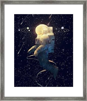 Moon Guy Framed Print by Oscar Lopez