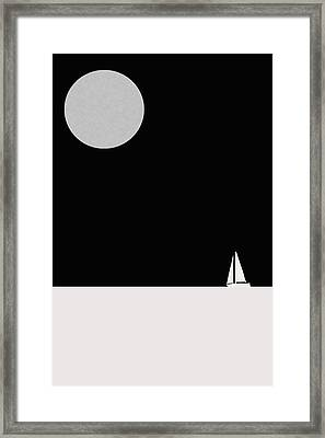 Moon Has Risen Up. Framed Print by Saddam Hussein