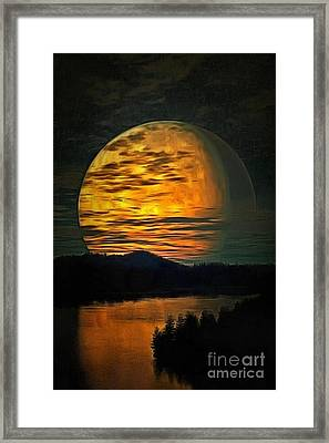 Moon In Ambiance Framed Print