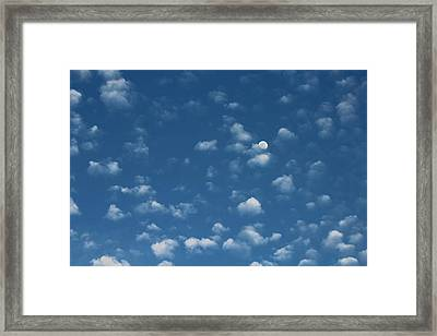 Moon In The Morning Sky Framed Print