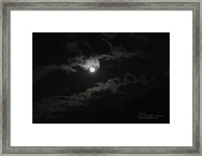 Moon In The Sky 2 Framed Print