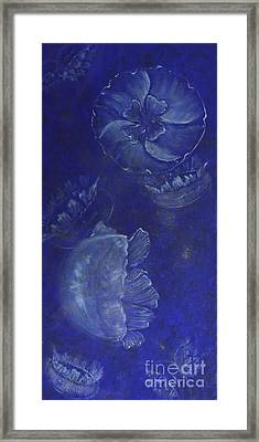 Moon Jellies Framed Print by Mary Deal