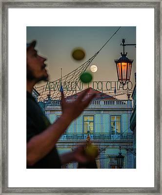 Moon Juggler Framed Print