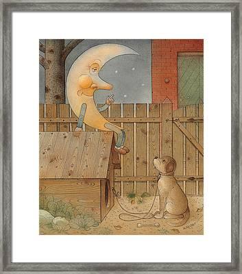 Moon Framed Print by Kestutis Kasparavicius