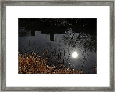Framed Print featuring the photograph Moon Lake by Larry Bishop
