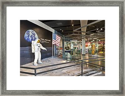 Moon Landing Exhibit Framed Print by Inga Spence