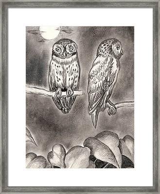 Moon Leaves Framed Print