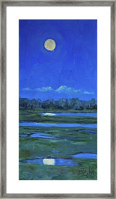 Framed Print featuring the painting Moon Light And Mud Puddles by Billie Colson