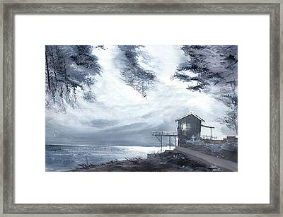 Framed Print featuring the painting Moon Light New by Anil Nene