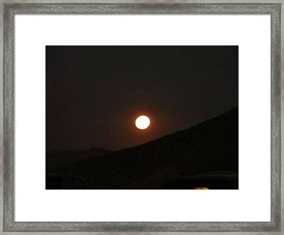 moon light on Mitspe Ramon Framed Print by Sandrine Kespi