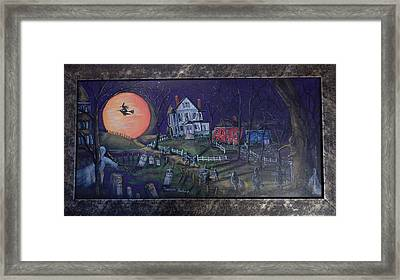 Moon Lights The Way Framed Print