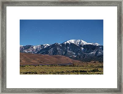 Moon Lit Colorado Great Sand Dunes Starry Night  Framed Print by James BO Insogna