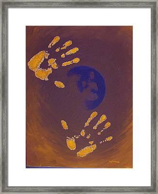Moon Man Framed Print by Michael DeMusz