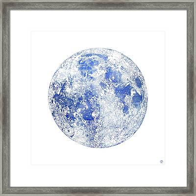 Moon Map Framed Print