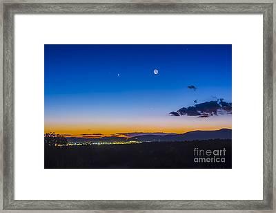 Moon, Mercury & Venus Conjunction Framed Print by Alan Dyer