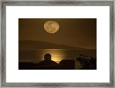 Moon Of Baja Framed Print