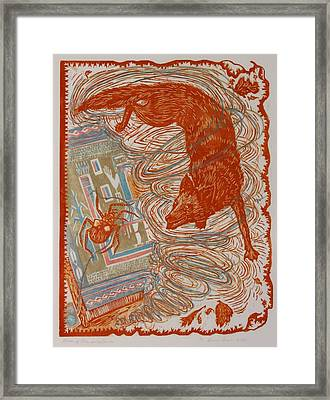 Framed Print featuring the drawing Moon Of Changing Leaves by Dawn Senior-Trask